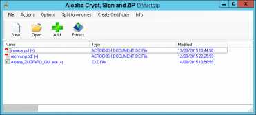 Download Aloaha Crypt, Sign and ZIP