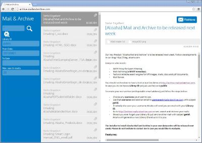 Download Aloaha MailAndArchive