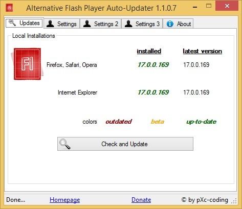Download Alternative Flash Player Auto-Updater
