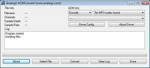 AnalogX ACM Convert