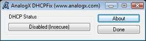 AnalogX DHCP Fix