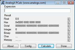 AnalogX PCalc