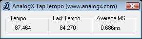 AnalogX TapTempo