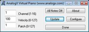 AnalogX Virtual Piano