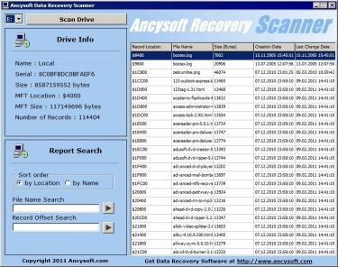 Download Ancysoft Data Recovery Scanner