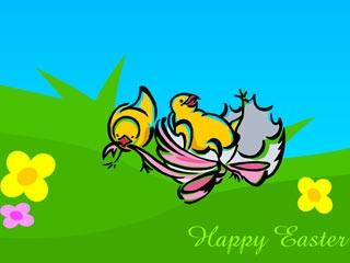 Download Animated Easter Chicks Screensaver