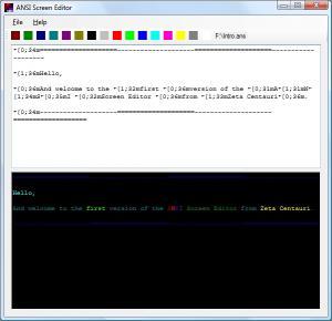 Download ANSI Screen Editor