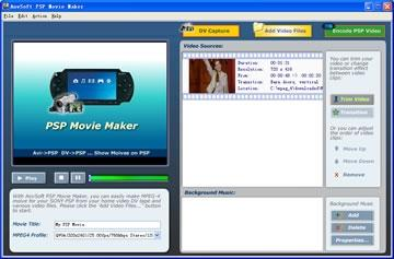 Download AnvSoft PSP Movie Maker