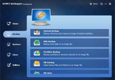Download AOMEI Backupper Professional
