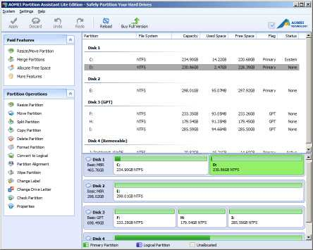 Download AOMEI Partition Assistant Lite Edition