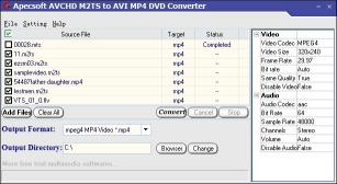 Download ApecSoft M2TS to AVI MP4 DVD Converter