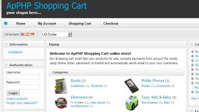 Download ApPHP Shopping Cart ecommerce software