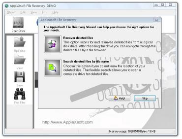 Download AppleXsoft Windows File Recovery