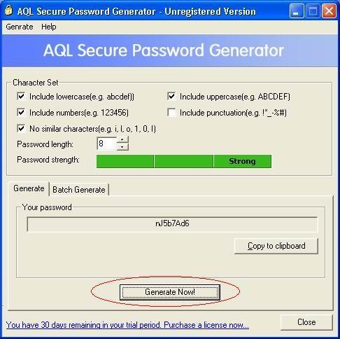 Download AQL Secure Password Generator