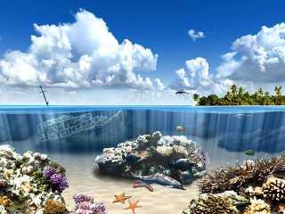 Download Aqua Dolphins 3D Screensaver