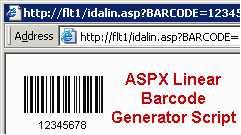 ASPX Linear Barcode Generator Script