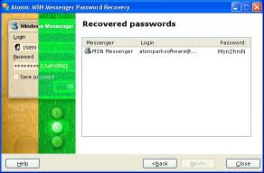 Download Atomic MSN Password Recovery