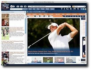 Download Auburn Tigers Firefox Theme