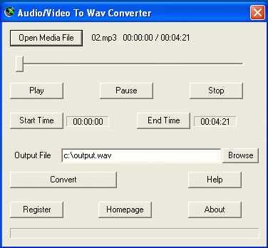 Download Audio/Video To Wav Converter