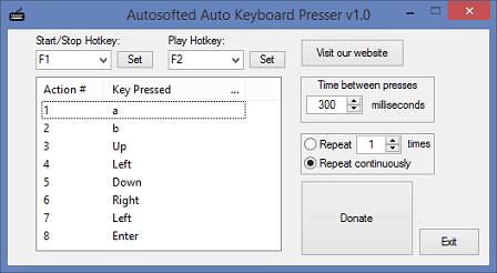 Auto Keyboard Presser by Autosofted - standaloneinstaller com