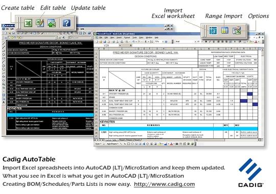AutoCAD Excel - { Cadig AutoTable} - standaloneinstaller com