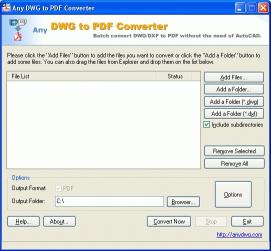 Download AutoCAD to PDF Converter 2009.8