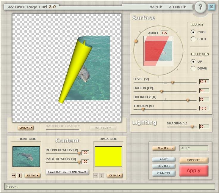 AV Bros  Page Curl for Windows - standaloneinstaller com