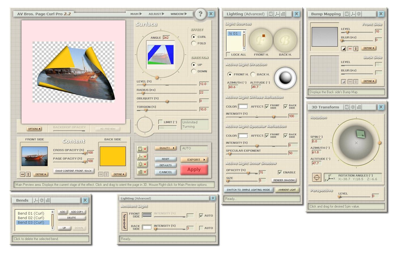AV Bros  Page Curl Pro for Windows - standaloneinstaller com