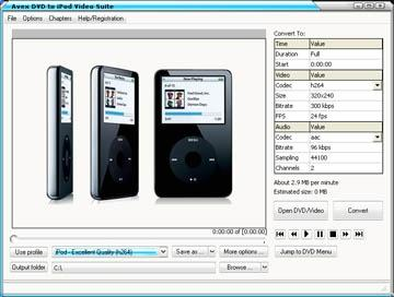 Download Avex DVD to iPod Video Suite Platinum