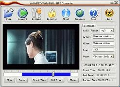Download AVI MPEG WMV RM to MP3 Converter