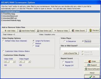Download AVI/MPG/WMV Screensaver