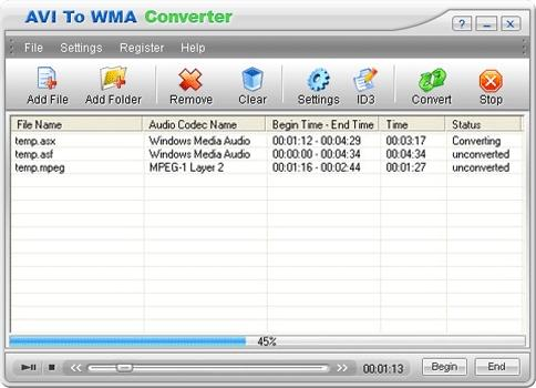 Download AVI To WMA Converter