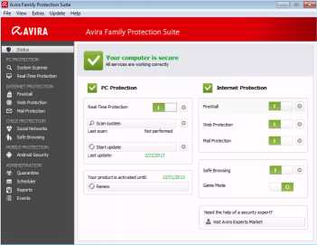 Download Avira Family Protection Suite
