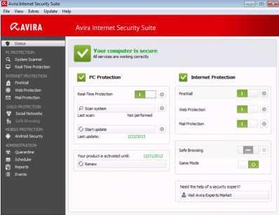 Download Avira Internet Security Suite