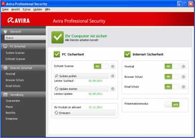 Download Avira Professional Security