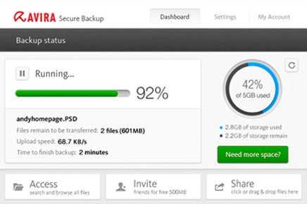 Download Avira Secure Backup