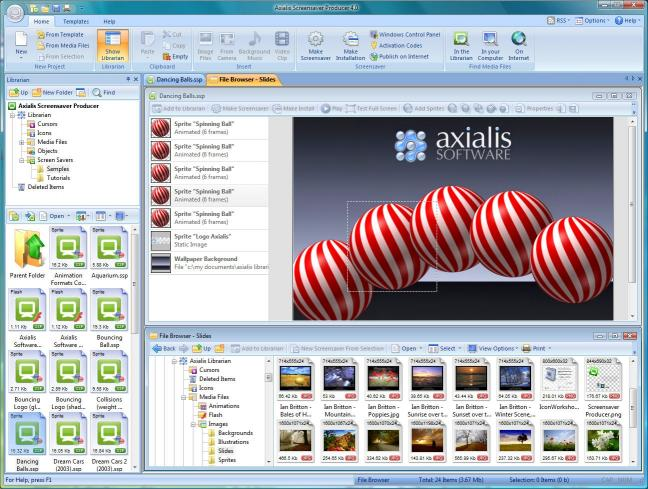 Download Axialis Screensaver Producer