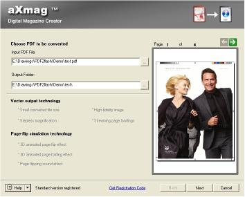 Download aXmag PDF to Flash Converter 2.4