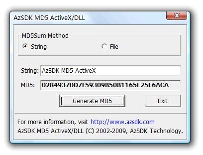 Download AzSDK MD5 ActiveX
