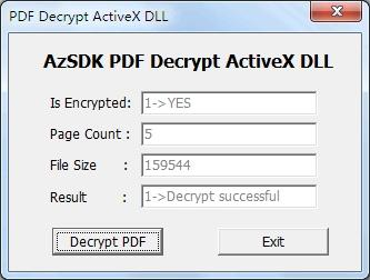 Download AzSDK PDF Decrypt ActiveX DLL