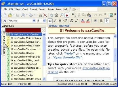 Download Azz Cardfile