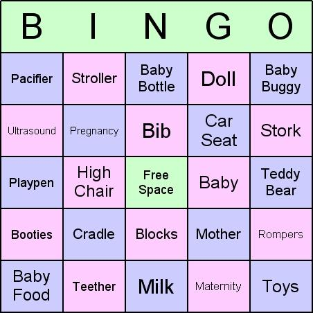 Download Baby Shower Bingo