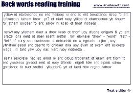 Download Back text reading