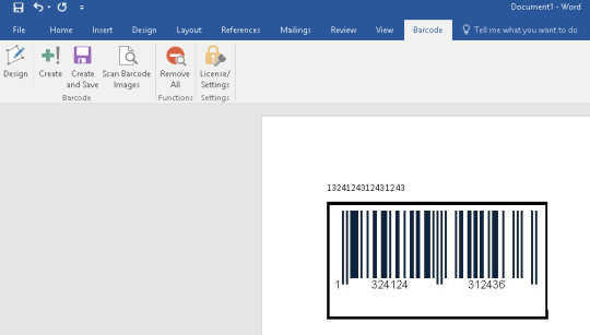 Barcode Generator for Excel and Word