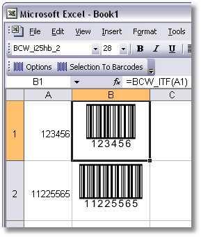 BarCodeWiz Interleaved 2 of 5 Barcode Fonts