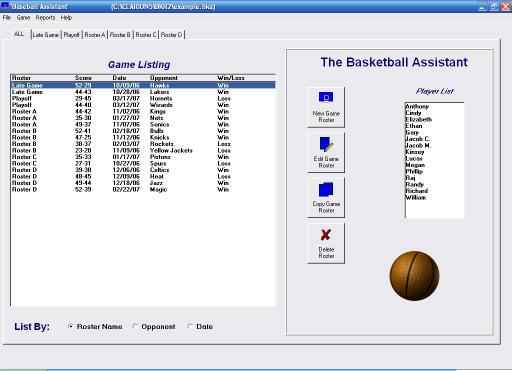 Download Basketball Roster Organizer