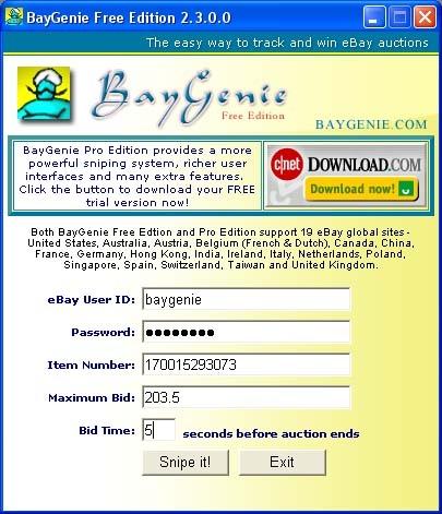 Baygenie Ebay Auction Sniper Free Standaloneinstaller Com