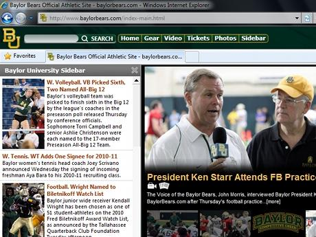 Download Baylor Bears IE Browser Theme