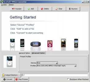Download BestSoft Free MPEG4 Converter