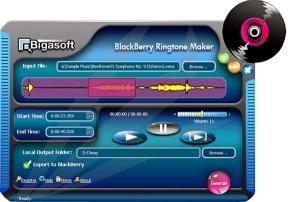 Download Bigasoft BlackBerry Ringtone Maker